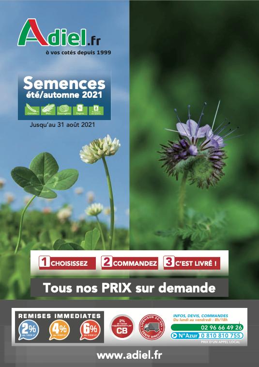 couverture catalogue Adiel France Semences 2021