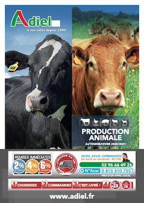 couverture catalogue production animale 2020-2021